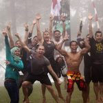Outbound di Puncak Highland, candle guard
