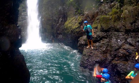 microsoft indonesia cliff jumping highland camp